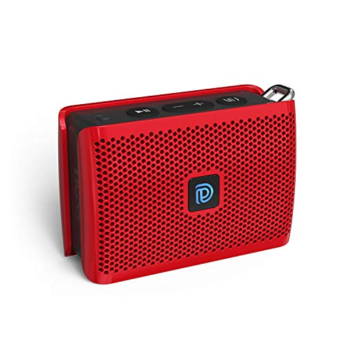 DOSS Genie Portable Bluetooth Speaker with Clean Sound, 33ft Bluetooth Range, Built-in Mic, Ultra-Portable Design, Perfect Wireless Speaker Compatible for Home, Outdoors, Travel – Red