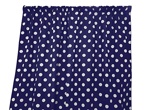 lovemyfabric Cotton Polka Dot Print Curtain Panel 58