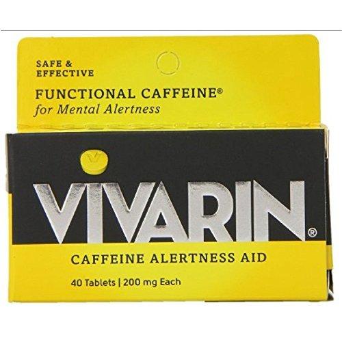 Vivarin Caffeine Alertness Aid, Tablets 40 ea (Pack of - Alertness Tablets Aid Caffeine