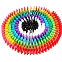 100個 木製 カラー ドミノ 倒し おもちゃ 子供 知育 玩具 誕生日 プレゼントの商品画像