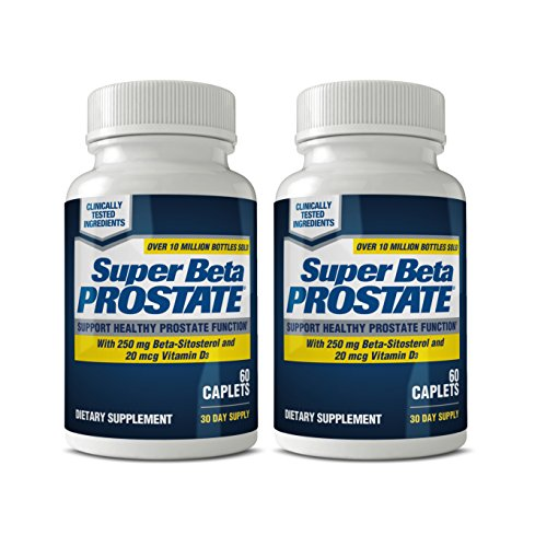 Super Beta Prostate Supplement - Over 12 Million Sold! | Supports Bladder & Urinary Health, Reduces Bathroom Trips, Promotes Sleep - by New Vitality + E-Book! (Pack of 2)