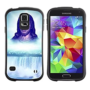 Hybrid Anti-Shock Bumper Case for Samsung Galaxy S5 / Jesus Waterfall