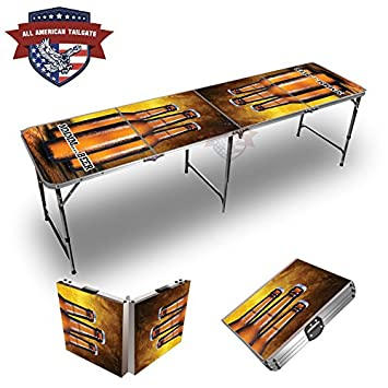 Three Beers (Mmm Beer) Theme 8 Foot Folding Tailgate Table