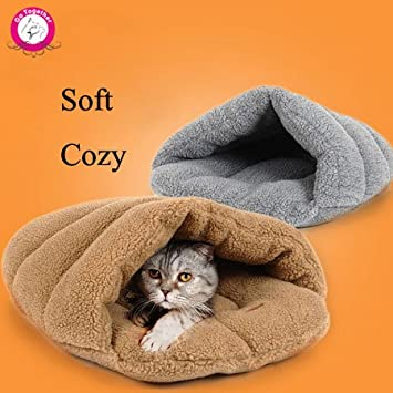 Amazon.com : BOSUN(TM) Slipper Style Pet Cat Bed Soft Fleece Cat Sleeping Bag Indoor Winter Warm Windproof Small Dog House Cama Perro : Pet Supplies