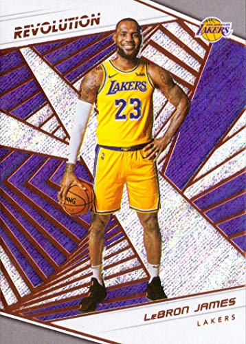 31837904cc6d5 2018-19 Panini Revolution #40 LeBron James Los Angeles Lakers Basketball  Card