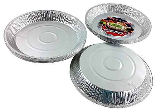 Pactogo 12'' Aluminum Foil Pie Pan Extra-Deep Disposable Tin Plates (Pack of 25) by PACTOGO (Image #4)
