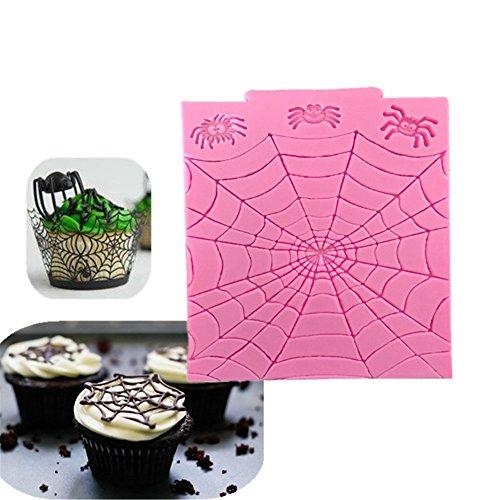 2 Pcs Halloween Spider Web Cake Mold Silicone