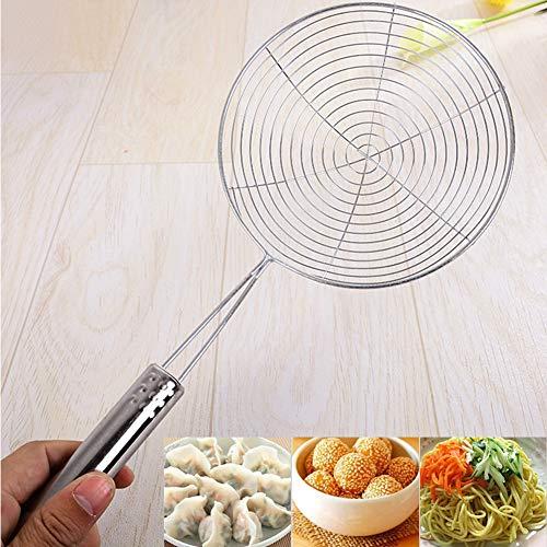 Espumadera de acero inoxidable con asa, cucharón para pasta, espagueti, caniche y freír en herramientas de cocina,...