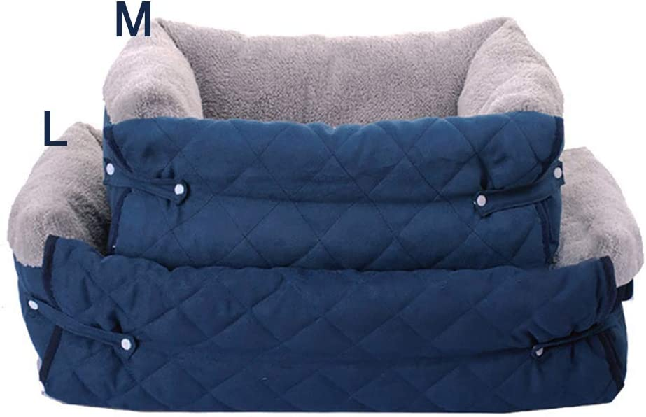 FREESOO-Panier-Lit-pour-Chien-Chat-3-en-1-Super-Doux-Confortable-M-M-Bleu miniature 6