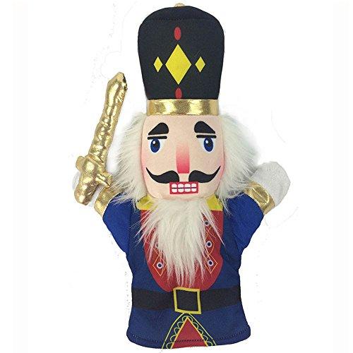 Christmas Nutcracker Ballet Soldier Plush Hand Puppet Toy Ballerina Hand Puppet