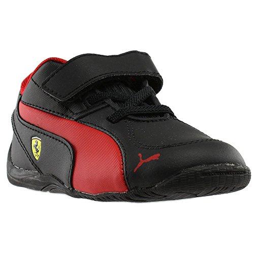 PUMA Baby Drift Cat 5 L Ferrari NU Velcro Kids Sneaker, Black-Rosso Corsa, 9 M US Toddler (Drift Puma Cat Ferrari)