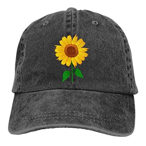 Waldeal Sunflower Clipart Low Profile Adjustable Structured Baseball Hat Black