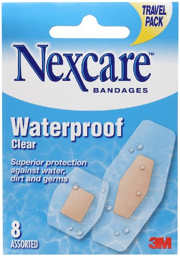 (Nexcare Waterproof Bandages Assorted, 0.021 Pound)