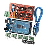 MagiDeal 3D Printer Kit with RAMPS 1.4 Controller + Mega 2560 Board + 5pcs A4988 Stepper Motor Driver with Heatsink + LCD 2004 Graphic Smart Display Controller