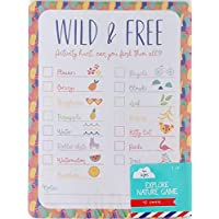 Pack Set of Wild and Free - Explore Nature Activity Scavenger Hunt Game for Kids - Adventure Outdoor