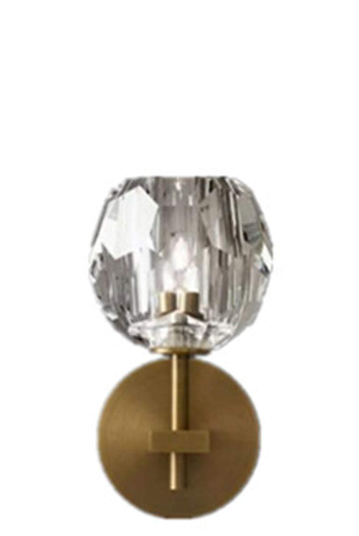 With Light Source Single Headlight Wandleuchten Crystal Wandleuchte Schlafzimmer Nacht Einfache Kupfer Korridor Wohnzimmer Wandleuchte Doppelkopf Wandleuchte Mit Lichtquelle