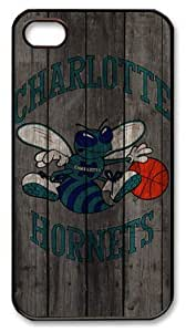 LZHCASE Personalized Protective Case For Ipod Touch 4 Cover NBA Sports Charlotte Hornets Logo Wood Look