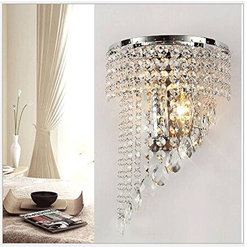 Wall chandelier amazon crystal wall lights aisle bedside light fixtures mozeypictures Images