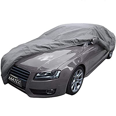 MATCC Car Cover Waterproof Auto Cover Breathable with Soft Cotton Protect from Scrapes Sun Rays Moisture Corrosion Dust Dirt for Full Car Fits Sedan XL (199''Lx76.7''Wx59''H)