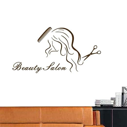 lyclff Salon Sticker Decal Hair Peluquería Posters Vinilo Arte de ...