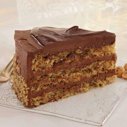 Sweet Street Gluten Free Nutella Iced Chocolate Nut Torta 3.125 lb (14 Slice) Pack of 2