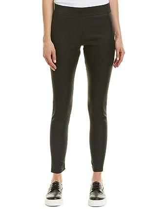e312495f2c5be Romeo & Juliet Couture Women's Elastic Waist Waxed Leggings Black Medium