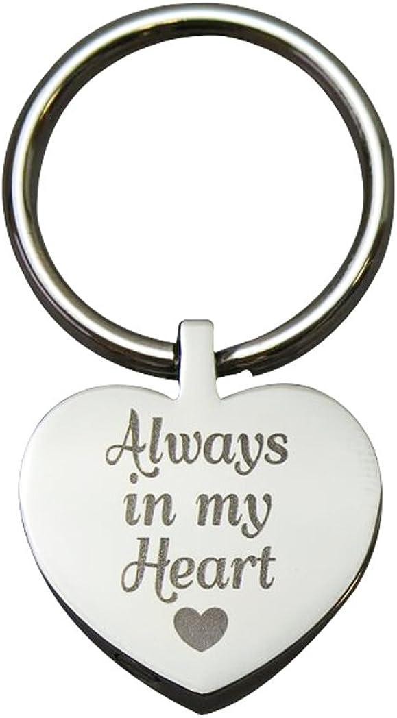 toujours dans mon c/œur Urne Porte-cl/és avec gravure/ /Memorial Fr/êne fun/éraire Bijoux