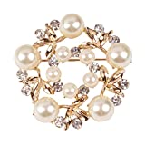 Best Ring Pillow With Pearl Rhinestones - YiYi Operation Crystal Imitation Pearl Ball Alloy Brooches Review