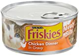 Friskies Cat Food Meaty Bits Chicken Dinner in Gravy, 5.5-Ounce Cans (Pack of 24), My Pet Supplies