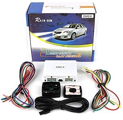 GoudaTech Universal Automatic Car Rain Sensor and Light Sensor kit 2 in 1 Sensor
