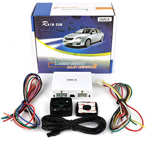 GoudaTech Universal Automatic Car Rain Sensor and Light Sensor kit 2 in 1 Sensor