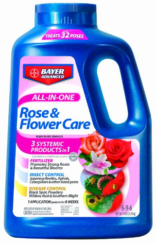 Bayer Advanced 701110 All in One Rose and Flower Care Granules, 4 Pound by Bayer Advanced