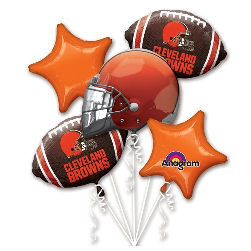 Anagram 31419 Cleveland Browns Balloon Bouquet Multicolored