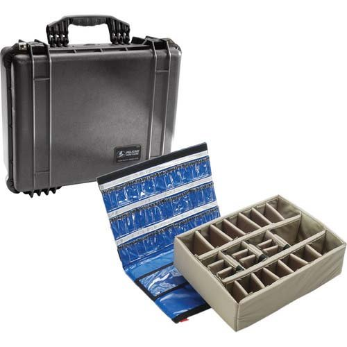Pelican 1550-005-110 1550EMS Medical Case with Lid Organizer/Dividers (Black) ()