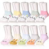 10 Pairs Boys' Low Cut Athletic Socks (Girls 10 Pairs, 8-12 Years)