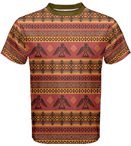 CowCow Brown Eagles Ethnic Style Pattern Tribal Native American Men