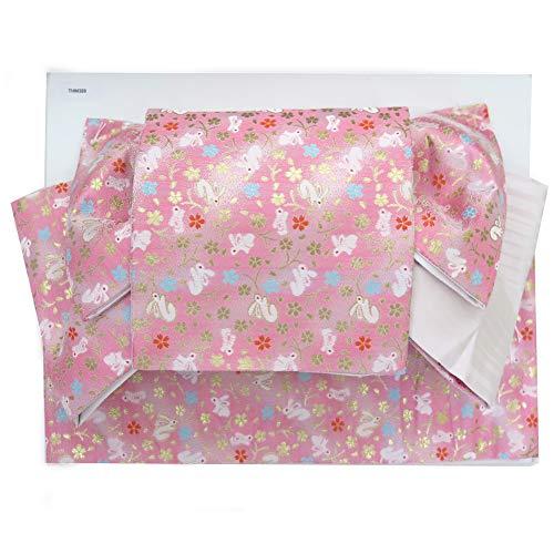 ホバーお香ホバート半幅帯 作り帯 付け帯 リボン返し結びの結び帯「ピンク うさぎ」THM390