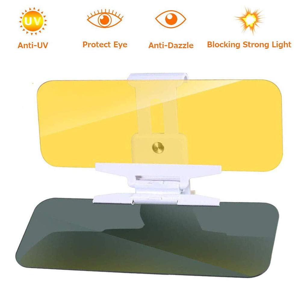 Zhier Visor for Car - Car Sun Visor Day/Night for Driving, 2 in 1 Day and Night Anti-Glare Adjustable Version Visor for Car by Zhier
