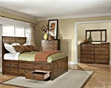 Janes Gallerie Oak Park Mission King 6 Drawer Storage Bedroom Set