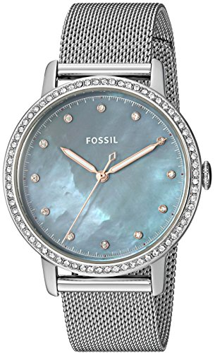 Fossil Women's Neely Quartz Watch with Stainless-Steel Strap, Silver, 16 (Model: ES4313) (Fossil Watch With Green Face)