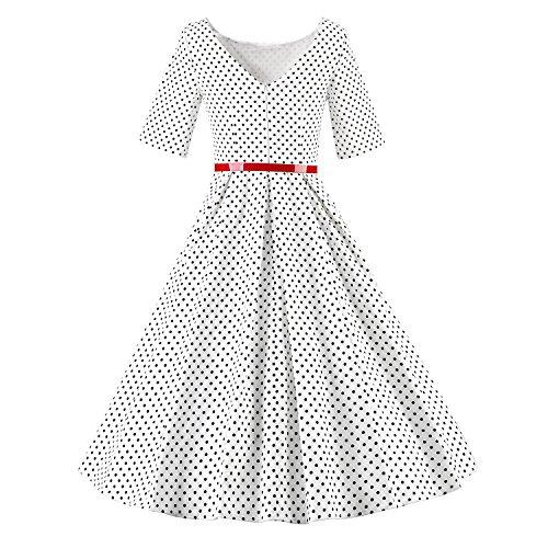 Luouse - Vestido - para mujer V075-White