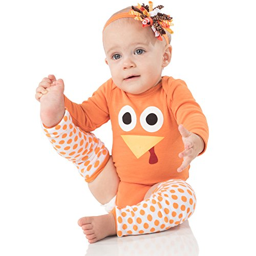 juDanzy Halloween & Christmas Baby Gift Box outfit set (3-6 Months, Jenny Turkey)]()