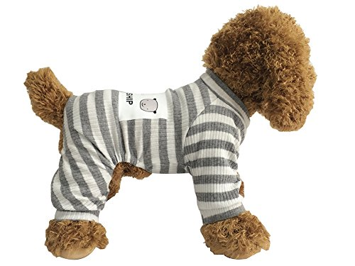 EastCities Dog Clothes for Small Dogs Puppy Pajamas Outfit,Grey M