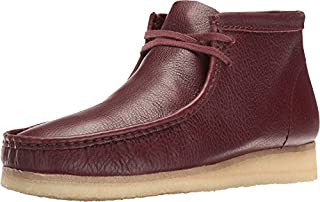 CLARKS Men's Wallabee Boot Burgundy Tumbled Leather Boot (B01JM4F6NA) | Amazon price tracker / tracking, Amazon price history charts, Amazon price watches, Amazon price drop alerts