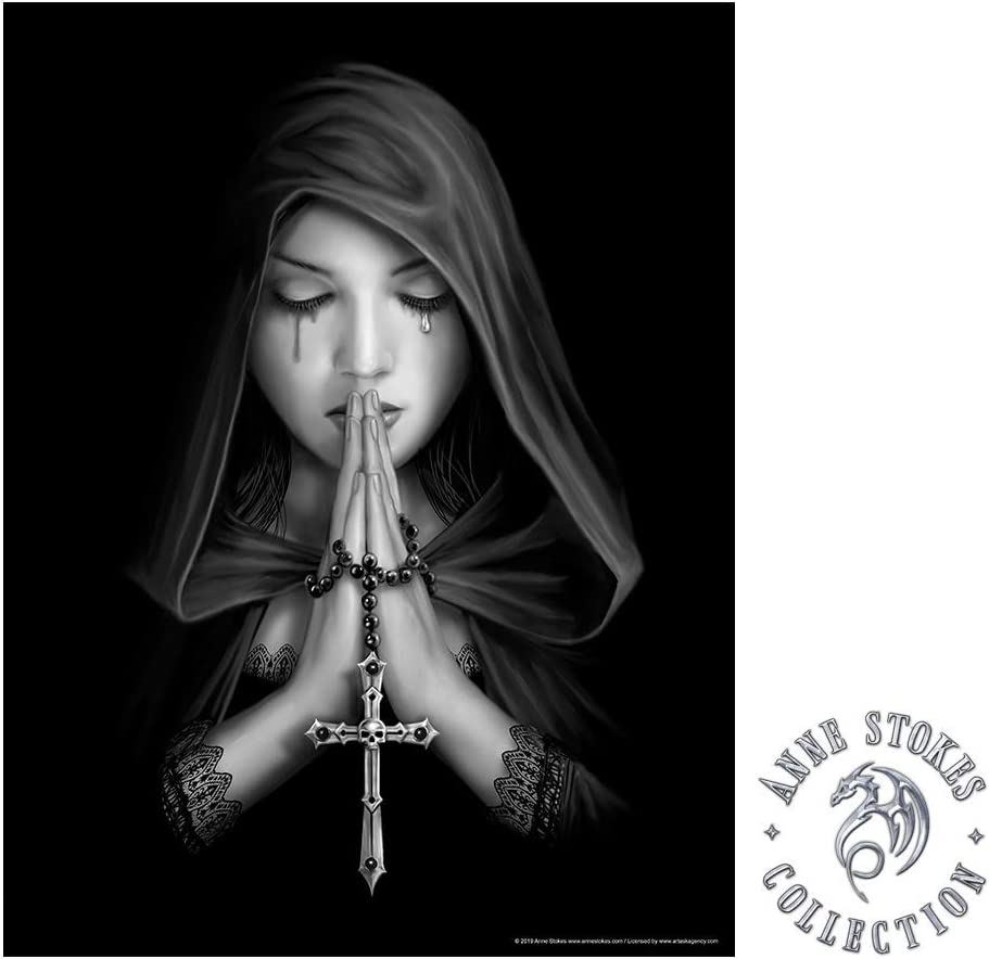 IT'S A SKIN Anne Stokes | Gothic Prayer Wall Poster Officially Licensed Merchandise. Great Wall Art for Home, Bedroom, Dorm Room, Study, Tattoo, Church