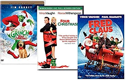 christmas movies on dvd 3 film set dr seuss how the grinch - Vince Vaughn Christmas Movie