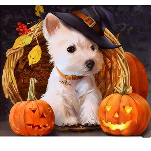 Adults Wooden Puzzle 1000 Piece Halloween Dog Animals Children Leisure Creative Art Puzzles Games Toys Jigsaw
