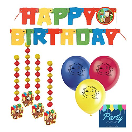 Curious George Party Decorations by Party Tableware (Curious George 1st Birthday)