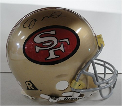 (Joe Montana Hand Signed Autographed Full Size Authentic Helmet Damaged JSA 53553)
