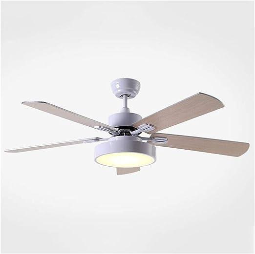 Luz del ventilador LED Ventilador de techo moderna blanca de techo de madera de madera del